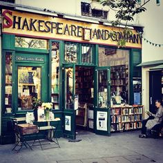 Shakespeare & Company Paris, France. It's been a lifelong dream of mine to buy a book from this charming little store. It's housed the great literary minds of the century.