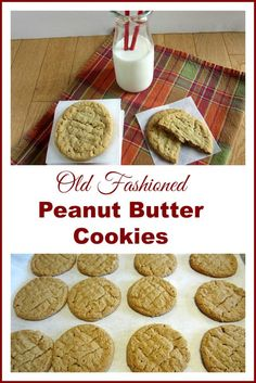 Old-Fashioned Peanut Butter Cookies ~ If you are looking to re-create Peanut Butter Cookies like your grandmother used to make, you know the cookie; a little crunchy on the outside and totally chewy on the inside, then this is the cookie for you! This is a delicious, peanut buttery, old-fashioned cookie like your Grammie would have made.  http://oldermommystillyummy.com