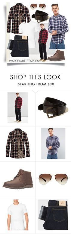 """""""Mad for Plaid"""" by madcar-2013 ❤ liked on Polyvore featuring Urban Outfitters, Hollister Co., Abercrombie & Fitch, Sperry, Ray-Ban, Calvin Klein, men's fashion, menswear, plaid and WardrobeStaples"""
