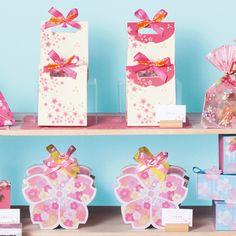 春ギフト No.003 Kawaii, Cherry Blossom, Packaging Design, Wraps, Packing, Gift Wrapping, Japanese, Display, Graphic Design