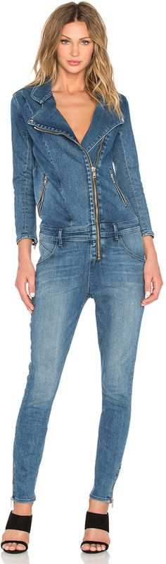 Shop for RtA Zou Zou Jumpsuit in Mist at REVOLVE. Free day shipping and returns, 30 day price match guarantee. Denim Jumpsuit, Overalls, Tan Suede Chelsea Boots, Jeans Overall, Denim Jeans, Skinny Jeans, Piece Of Clothing, Single Piece, Balmain