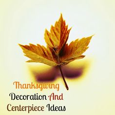 Inexpensive Thanksgiving Decoration And Centerpiece Ideas