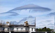 Удивительные облака в форме НЛО оставили skywatchers в Девоне обалдеть
