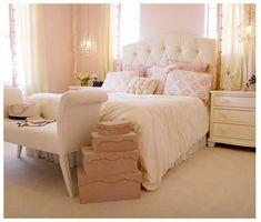 Femine decor, luxurious bed-head.