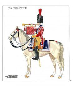 Tromba della gendarmeria di élite  a cavallo della guardia imperiale