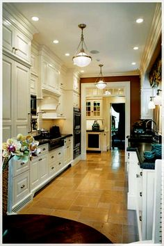 A kitchen is a room where people cook to serve a basic human need, which is food. It's essential to create a kitchen that matches the homeowner's preferences.    ------------------- Galley Kitchens, Home Kitchens, Custom Kitchens, Dream Kitchens, Galley Kitchen Remodel, Kirchen Design, New Kitchen, Kitchen Decor, Kitchen Ideas