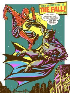The Fall: Spidey vs The Dark Knight by Cristiano Suarez