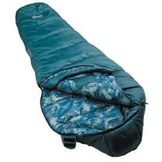 """Youth Boy Mummy Sleeping Bag Features: - Sized to fit youth - Reflective logos and graphics give kids bling - Fun patterns and colors coordinate with other Coleman kids products - Blue Specifications: - Storage: Stuff sack - Temperature range: 45 Degrees Fahrenheit - Size: 66' x 26"""" - Insulation: 2 lbs. ThermoTech fill - Cover Polyester - Liner: Polyester"""