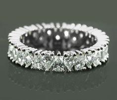 Pear Diamond Wedding Band ♥ #Capri #Jewelers #Arizona ~ www.caprijewelersaz.com  ♥