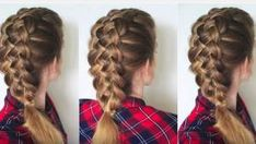 Hi Guys! Today's tutorial is an updated version of my Dutch 5 Strand Braid Tutorial . Easy Work Hairstyles, Braided Hairstyles Tutorials, Little Girl Hairstyles, Pretty Hairstyles, Cute Hairstyles, Wedding Hairstyles, Hair Tutorials, Dance Hairstyles, Hairstyles Pictures
