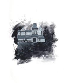 Vintage Halloween • Houses of Horror - The Marsten house, Salem`s Lot