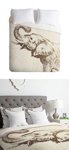 Intelligentsia Duvet Cover  I would love this but with deer instead!
