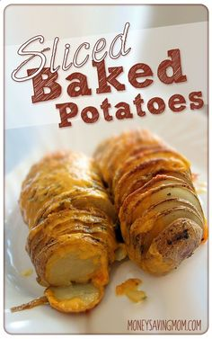 Sliced Baked Potatoes -- these are easy to make and they are such a fun way to dress up an ordinary potato!
