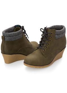 8f1b09e67c81 Wide Width Lace Up Wedge Bootie Wide Ankle Boots
