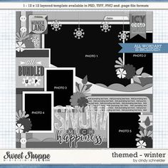 Cindy's Layered Templates - Themed: Winter by Cindy Schneider
