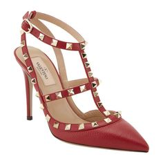 Valentino USA Rockstud Slingback Pumps at Barneys.com