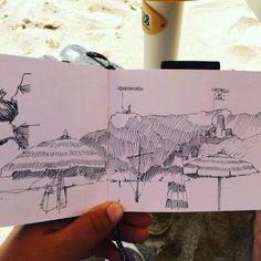Il castello di Noli e la costa visti dai bagni Colombo a...