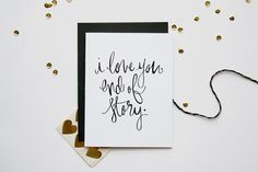 Look at this Site :-) Love Card  End Of Story by paperfeltshop on Etsy, $5.00