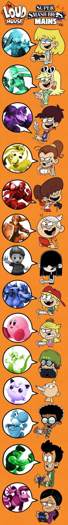 THE LOUD HOUSE and their SMASH BROS. Mains! by Master-Rainbow.deviantart.com on @DeviantArt