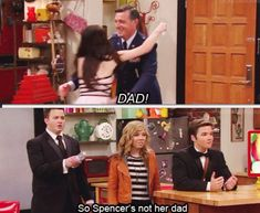 When i wached the show the first time it took me a.couple of episodes to realise that spencer's not her dad lool