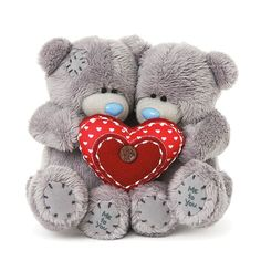 Image result for Valentine's Day Bears Brown Bears Wearing Daisies On Ear And Glasses Holding Love You Heart Pillows