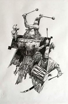 Toppi, Sergio - Original illustration - W.B.