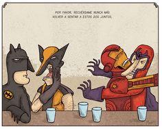 """""""Recuérdame nunca más sentar a estos dos juntos!"""" #Illustration"""