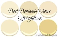If you are looking for a paint colour for your walls that\& not beige or gray but can still function as a neutral, then take a look at some of these gorgeous soft yellows from Benjamin Moore. I love these yellows because they are so versatile and can. Interior Paint Colors For Living Room, Paint Colors For Home, Living Room Paint, House Colors, Living Rooms, Interior Colors, Interior Trim, Bedroom Colors, Living Spaces