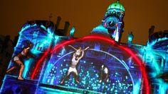 Fête des Lumières: magia de luzes e cores em Lyon Facade, Lights, Magick, Facades