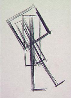 Tadao Ando (1941 - )  Esquisse pour le Centre de séminaire Vitra, Weil-am-Rhein, Allemagne Crayon noir sur papier Japon 27 x 38,5 cm Projet ...