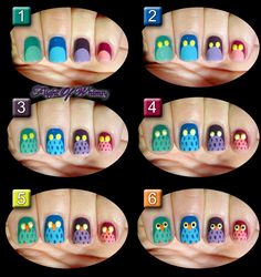 Simple Steps To Help You Better Understand Hobbies Owl Nail Art, Owl Nails, Animal Nail Art, Cute Nail Art, Cute Nails, Pretty Nails, Minion Nails, Nails For Kids, Nail Art Hacks