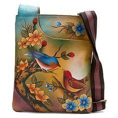 Anuschka Slim Cross-Shoulder Bag found at #OnlineShoes