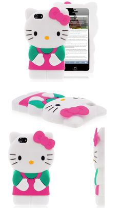 Hello Kitty iPhone 5 Silicone Case Green Pink White $6.07 #hellokitty #iphone #case #silicone #lovely #cover