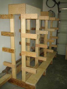 Nice looking wood rack