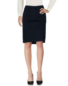 ASPESI Women's Knee length skirt Dark blue 2 US