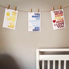 Free Nursery Printables via Life is Sweet blog