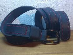 Svatava / Opasok prešívaný Love And Respect, Wood Crafts, Belt, Leather, Handmade, Accessories, Black, Belts, Hand Made