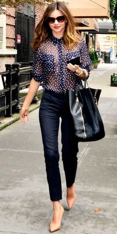 38 Top Street style Recreate with @Charlotte Willner Willner Carnevale Willner Anne Clothing Bubbles Blouse and Pique Cropped Pant!