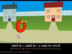 Las vocales: a, e, i, o, u - Spanish vowels.  Very catchy tune with subtitles in Spanish and English.