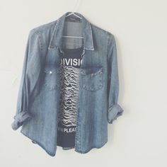 denim shirt to wear with oversized tees, leggings & converse