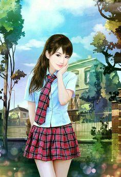 (Part Ending akan di private. Lovely Girl Image, Girls Image, Chinese Drawings, Chinese Art, Korean Art, Asian Art, Anime Korea, 3d Girl, China Girl