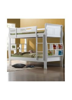 Joseph International Joseph Oasis Wooden Bunk Bed-White Joseph Oasis Bunk Bed: The Joseph Oasis Bunk Bed Frame combines a fashionable wooden looking sleigh bed frame with an elegant and stylish design that will allow this bed to blend in with any tradition http://www.comparestoreprices.co.uk/bunk-beds/joseph-international-joseph-oasis-wooden-bunk-bed-white.asp