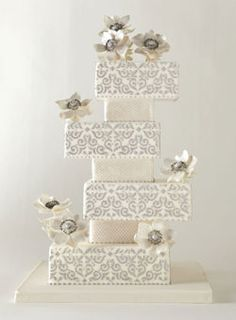 Brides Magazine: America's Most Beautiful Cakes : Wedding Cakes Gallery