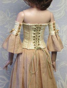 OOAK Ellowyne Wilde BONED CORSET outfit. Golden by RaccoonsRags via Etsy