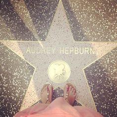 Audrey Hepburn star on the Walk of Fame