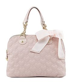 I want this purse!!!!  Betsey Johnson Be My One and Only Now Dome Satchel #Dillards