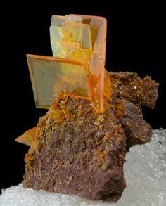 Wulfenite from Rowley Mine, near Theba, Maricopa County, Arizona