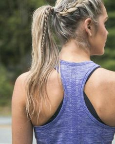 Sporty Ponytail Hairstyles To The Gym 15 - All For Little Girl Hair Running Hairstyles, Volleyball Hairstyles, Sporty Hairstyles, Workout Hairstyles, Athletic Hairstyles, Big Box Braids Hairstyles, Down Hairstyles, Braided Hairstyles, Hairstyles Videos