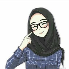 Think before you answer. Cartoon Girl Drawing, Girl Cartoon, Cartoon Art, Hijabi Girl, Girl Hijab, Muslim Girls, Muslim Women, Islam Muslim, Hijab Drawing