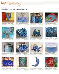True Blue Friends by Francis @RescuedOfferings Thanks Francis for including me #etsyspecialT #etsyfinds #etsymntt